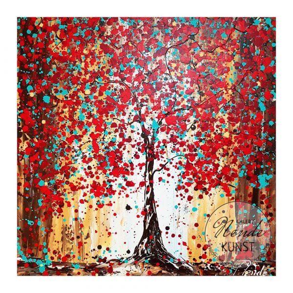 rode blauwe boom