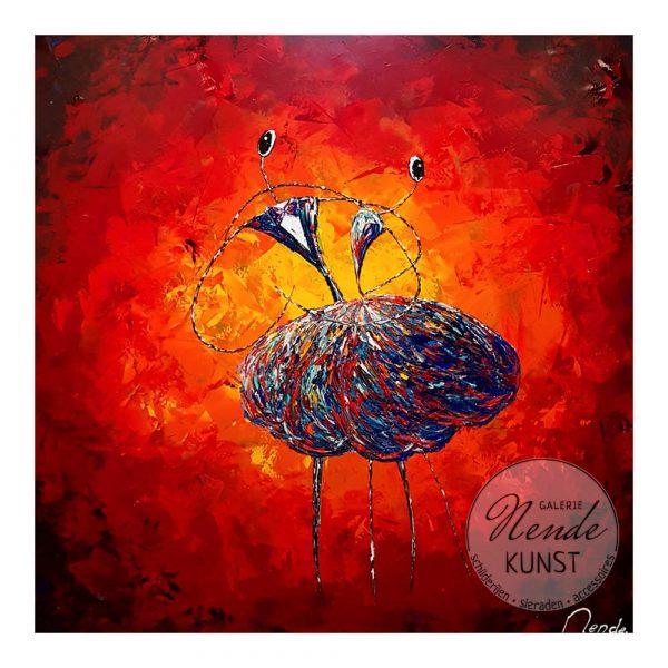 ballerina rood schilderij