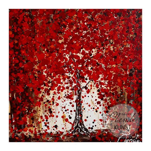 rode boom schilderij