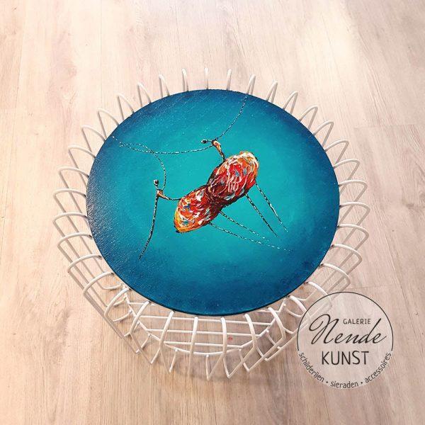 blauwe ballerina's tafel