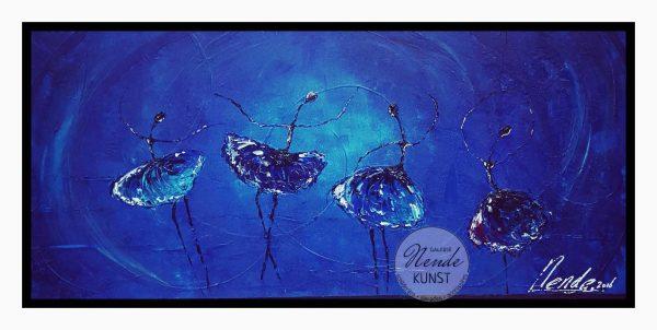 Ballerinas blauw